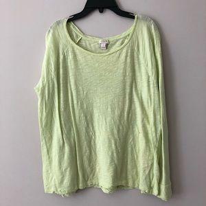 JCREW Lightweight lime green shirt